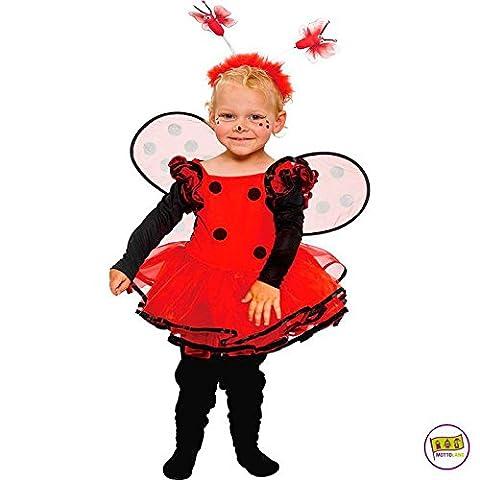 Mottoland Kinder Kostüm Baby Marienkäfer Kleinkind Mädchen Kleid Kita Fasching: Größe: 92 (Nineties Halloween Kostüme)