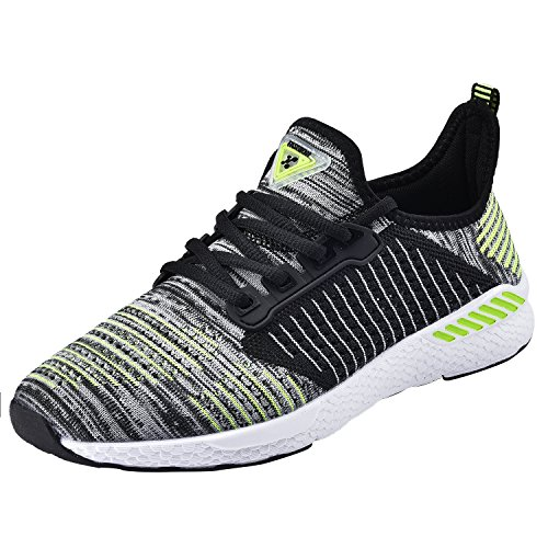 Neoker uomo donna scarpe da sportive running basse sneakers verde 36