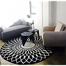 Elegante mesa redonda en blanco y negro de la mesa de centro de la sala de estar grande y blanca ( Tamaño : 160CM )