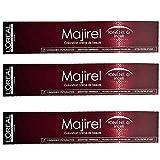 3x Loreal Majirel 8,3 Hellblond Gold Creme Haarfarbe - 50ml