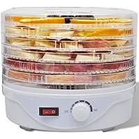 Anself - Deshidratadora de alimentos con 6 bandejas apilables (redondo)