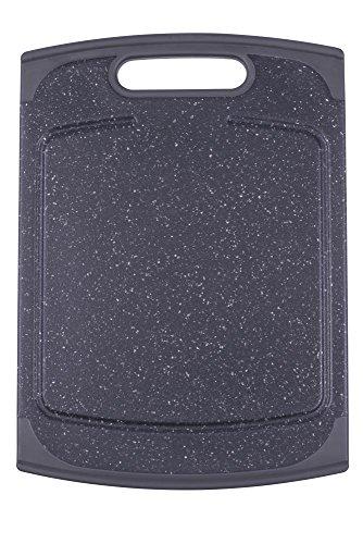 culinario Schneidebrett ca. 20 x 14 cm, in anthrazit Granit-Optik mit Germo SAFE Hygieneschutz