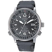 Citizen AS2020-02E - Reloj analógico de cuarzo para hombre, correa de nailon color negro
