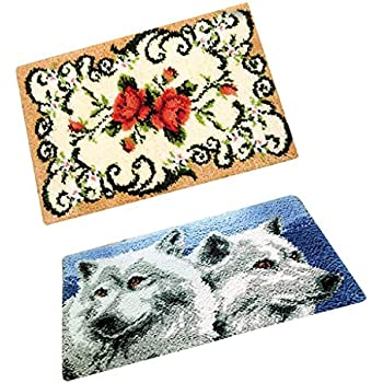 Latch Hook Rug Kits DIY Carpet Tapestry Making for Kids Adults Beginners 75x57cm