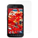 atFolix Panzerschutzfolie für Samsung Galaxy Xcover 4 Panzerfolie - 3 x FX-Shock-Antireflex blendfreie stoßabsorbierende Displayschutzfolie