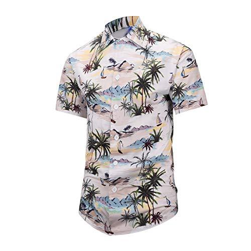 Herren Hawaiihemd 3D Druck T Shirt Kurzarm Hemd Top Lustige Freizeithemd Bequem Business Shirts Sommer Modern College Bluse Hochzeit Hot Spring Oberteile Party Strand Oberteil(B.L)
