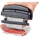 48 lames viande attendrisseur viande attendrisseur à viande manuel Emporte-Pièces Marinade Barbecue en acier inoxydable Noir
