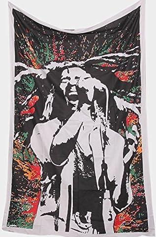 World breit Kart Loving Life Bob Marley Wandteppich Rastaman Reggae Wandteppiche Hippie Stoff Poster Wall Art Überwurf Tischdecke Yogamatte jamaikanischen Tiger Face Tie Dye Boho Bohemian Rastaman