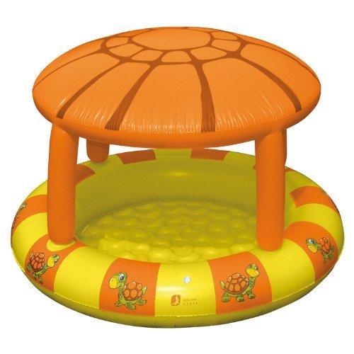 Planschbecken mit Sonnendach Turtle 115x78cm - Kinderpool Babypool
