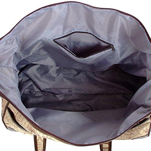 Stoffa Oxford Impermeabile Bagaglio Aste Di Lega Può Inserire Il Bordo Moda Leggero Borsetta Alta Capacità Borsa Da Viaggio 52 * 25 * 30cm ( Colore : 1 ) 1