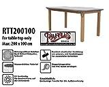 Raffles Covers RTT200100 Schutzhülle Nur für Tischplatten Schutzhülle für rechteckigen Gartentisch, Abdeckhaube für Gartentisch, Gartenmöbel Abdeckung