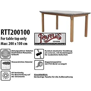 RTT200100 Schutzhülle Nur Für Tischplatten Schutzhülle Für Rechteckigen  Gartentisch, Abdeckhaube Für Gartentisch, Gartenmöbel Abdeckung