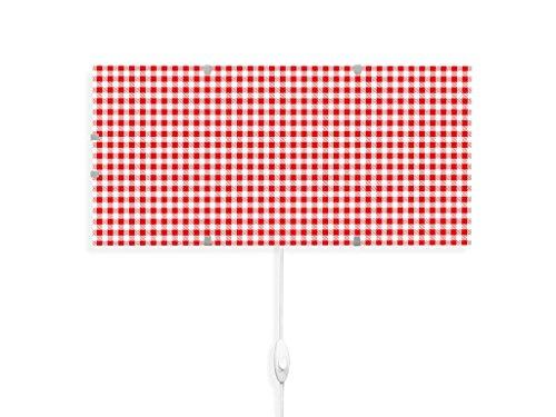 yourdea - Kinderzimmer Wechsel Bild für IKEA GYLLEN Wandlampe 56cm mit Motiv: Gingham Rot