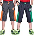 #7: Boys Three FourthCharcoal Melange And Grey - Pack Of 2