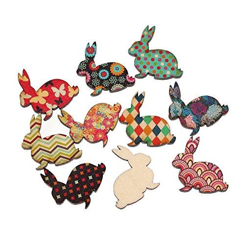 10-x-3-cm-legno-conigli-ornamento-a-forma-di-cuori-nuovo-taglio-pezzi-colori-assortiti-decorativo