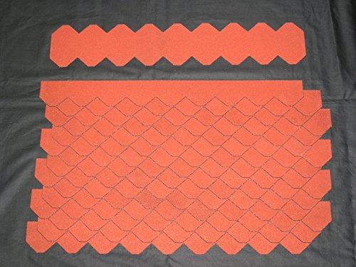 Mini Dachschindeln Schiefer (55 mm) – Set – Rot 23.426 Dachschindel