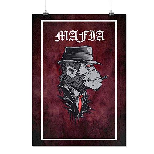 Mafia Affe Gangster Mattes/Glänzende Plakat A3 (42cm x 30cm) | Wellcoda (Gangsta Paar Kostüm)