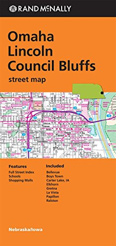 Folded Map Omaha/Lincoln Council Bluffs Ne Street (Rand Mcnally)