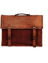 Leather Bag - Vintage Genuine, Orignal Leather Laptop Bag By Bag House