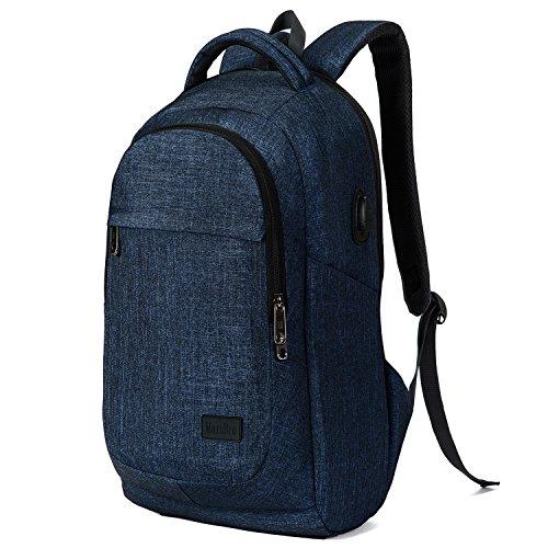 tenter Laptop-Rucksack (15,6-Zoll-Laptops) aus Polyester für Business oder Reisen blau Blue-1 (14 Nächte Von Halloween)