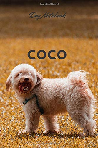 Coco: Dog Breeds Notebook, Journal, Diary, Notebook for Drawing and Writing (Colorfule 110 Pages, Blank, 6 x 9) (Dog Notebook)