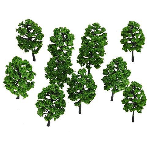 Unechte Blumen 10 Stücke Kunststoff Modell Baum Gebäude Eisenbahn Layout Garten Landschaft Landschaft Miniatur Liefert Baukasten Spielzeug für Haus Garten Party Blumenschmuck