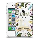 Head Case Designs Lama Seelen Tiere Abbildungen Ruckseite Hülle für iPhone 4 / iPhone 4S