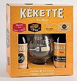 Coffret Kekette verre collector + 4 bouteilles (triple ambrée blonde red)