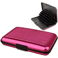 Aluminium Credit Card Holder/Security Wallet by Lizzy® (Hot Pink)