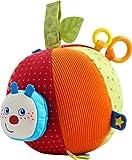 HABA 303219 - Stoffball Raupe Mina | Baby-Spielzeug aus Stoff mit Rattermotor und vielen Spieleffekten | Ab 6 Monaten