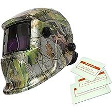 Máscara de Mate Solar Oscurecimiento Automático de Soldadura Por Arco TIG Casco de Soldador ...