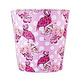 TETAKE TETAKE Papierkorb Kinder Mädchen mit Flamingo Motiv Papierkorb Büro 10L Leder Wasserdicht Abfalleimer für Kinderzimmer