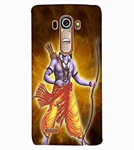 ColourCraft Lord Rama Design Back Case Cover for LG G4