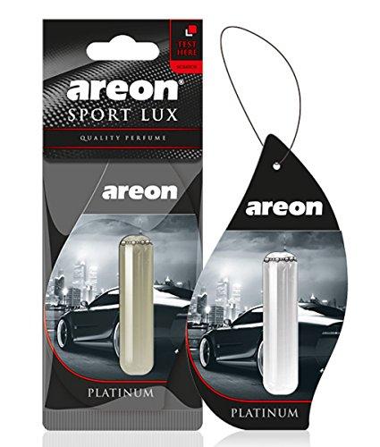 AREON liquido auto deodorante profumo Hanging platino ciondolo a lunga durata Home 3D 5ml Confezione da 1