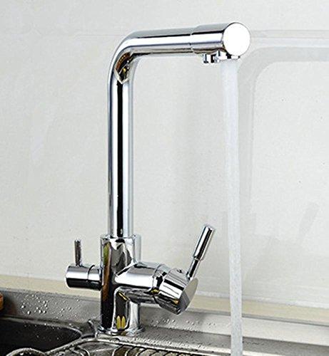 ottone Moderna singola maniglia girevole monocomando rubinetto