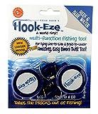 Angelwerkzeug von Hook-Eze zum Festknoten und Sichern von Angelhaken und Schneiden von Schnüren, für gefahrloses Reisen mit vormontierten Haken an 2 Angelruten, multifunktional