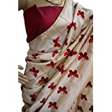 Harikrishnavilla Women's Latest Designer Party Wear New Collection Chanderi Cotton Bollywood Trendy Elegant 2018 Latest Designe Saree For Women With Bangalore Silk Unstitched Blouse ( Multi-Colour Butterfly, Free Size) - B07BJHB8KB