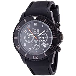 Ice-Watch Ice-Chrono Matte Black Chronograph Dial and Matte Black Silicone Strap CHM.BK.B.S