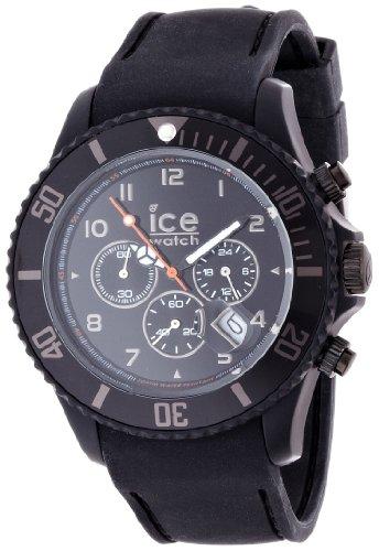 Ice-Watch Ice-Chrono Matte Black Chronograph Dial and Matte Black Silicone Strap CHM.BK.B.S