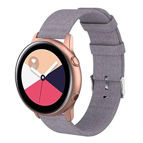 Womdee Kompatibel mit Samsung Galaxy Watch Active 40mm Bands - 20mm Schnellspanner Ersatz Canvas Strap Für Galaxy Watch Active SM-R500 & Galaxy Watch 42mm Damen Herren Smartwatch