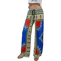Mujer Pantalones De Vintage Boho Etnica Estilo Impresión Patrón Pantalones Palazzo Mode De Marca Elegantes Hippie Elastische Taille Anchas Pantalones Baggy Pantalones Aladdin Pantalones De Linterna