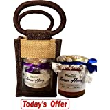 Farm Naturelle-Aesthetically Designed Jute Gift Bag With Pure Raw Natural Unheated Unprocessed Forest Jamun Flower...