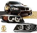 Rolling Gears E90 Scheinwerfer-Projektor LED Angel Eyes, 2009-2012 Modelle (Schwarz)