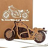 Pop Up Karte'Motorrad - Harley Davidson' - 3D Card Motorbike - Einladung, Geburtstagskarte & Gutschein zu Führerschein, Motorrad Ausflug - Motorradkarte