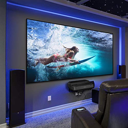 "HiViLux Ultra Thin RahmenLeinwand Kinofolie Weiss Tuch: HiViWhite Cinema 1,0 Gain 1,0 8K/4K/3D (16:9 Bild:221x124cm 100\"")"
