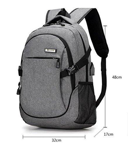 LQABW Escursionismo Zaino Spalla Viaggi Tempo Libero Computer Bag 20-35L,Grey Black