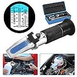 Frostschutz Refraktometer ,GOCHANGE Handrefraktometer für Ethylenglykol, Propylenglykol, Gefrierpunkt von Kühlwasser, Scheibenwasser, AdBlue, Batterie -