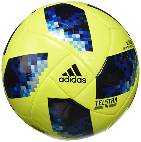 adidas Herren FIFA World Cup Glider Ball, Solar Yellow/Solar Blue/Bright Royal, 5 (Football Fifa)