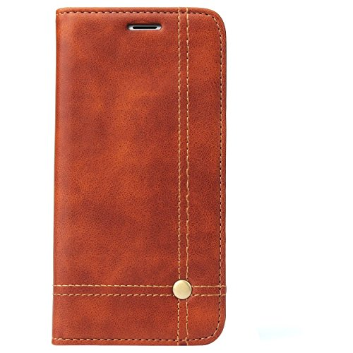 Deer Magnetic Auto Lock Flip Cover For Motorola Moto G5 Plus - Brown