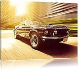 L'image Ford Mustang sur toile, énorme XXL Photos complètement encadrée avec civière, art impression sur murale avec cadre, moins cher que la peinture ou de l'image, aucune affiche ou un poster taille: 100x70 cm